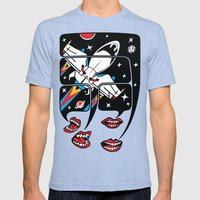 Let's Talk About Spacesh… Mens Fitted Tee Tri-Blue SMALL