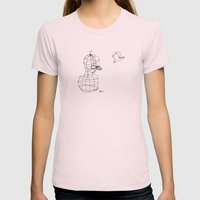This Bird Has Flown. Womens Fitted Tee Light Pink SMALL