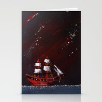 Ship At Sea Stationery Cards