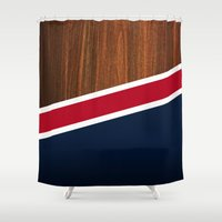 Wooden New England Shower Curtain