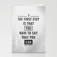 Will Smith quote - Motivational poster Stationery Cards