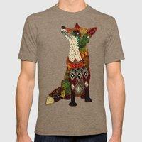 fox love juniper Mens Fitted Tee Tri-Coffee SMALL