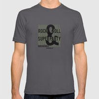 Rock and Roll Superparty Mens Fitted Tee Asphalt SMALL