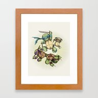 TEENAGE MUTANT NINJA PLU… Framed Art Print