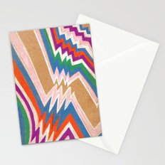 wonky chevron Stationery Cards