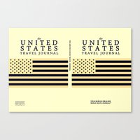 The United States Travel Journal Poster Canvas Print