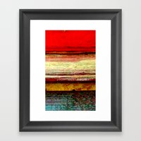 Sunset in Bali Framed Art Print