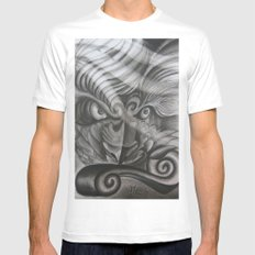 Don't Mess With The Fu SMALL White Mens Fitted Tee