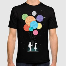 You are my universe Mens Fitted Tee Black SMALL