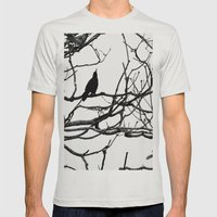 Black Bird Mens Fitted Tee Silver SMALL