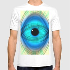 Eye abstract Mens Fitted Tee SMALL White