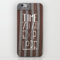 Time To Go Explore iPhone & iPod Skin
