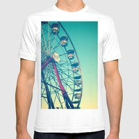 In The Sky Mens Fitted Tee White SMALL
