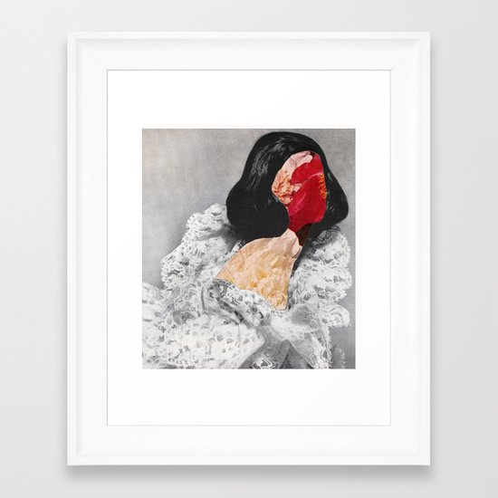 FACE  LACE Framed Art Print