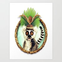 King Julian Art Print