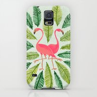 Galaxy S5 Cases featuring Flamingos by Cat Coquillette