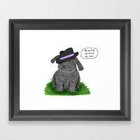 Mafia Rabbit Framed Art Print