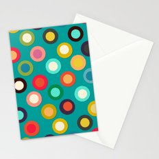 turquoise pop spot Stationery Cards