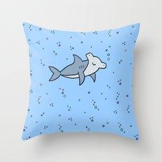 Little Hammerhead shark Throw Pillow