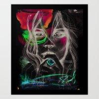 Kate Moss By Leo Tezcuca… Art Print