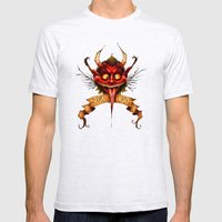 Krampus is Coming Mens Fitted Tee Ash Grey SMALL