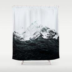 Those waves were like mountains Shower Curtain