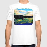 The Giant's Steps On The… Mens Fitted Tee White SMALL