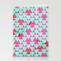 Watercolor Triangle Part… Stationery Cards