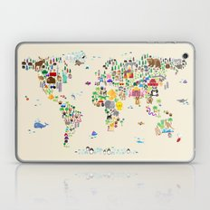 Animal Map of the World Laptop & iPad Skin