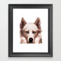 Devil Dog Framed Art Print