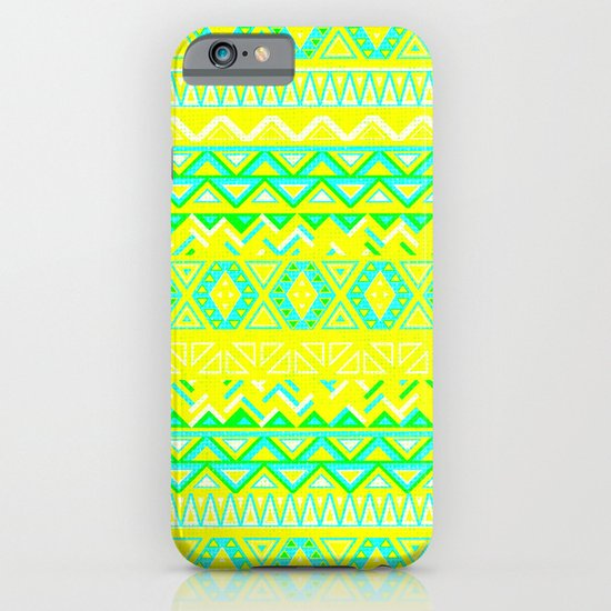 India Style Pattern (Neon) iPhone & iPod Case