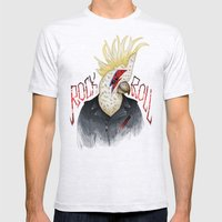 ROCK & ROLL BIRD!! Mens Fitted Tee Ash Grey SMALL