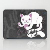 White Cat iPad Case