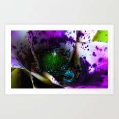 Microcosm in the flower  Art Print