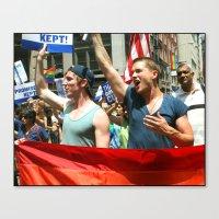 Gay Pride Parade Marcher… Canvas Print