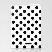 Dots mustache Stationery Cards