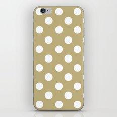 Polka Dots (White/Sand) iPhone & iPod Skin