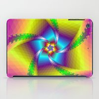 Whirligig in Yellow Blue and Green iPad Case