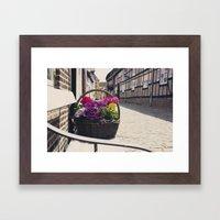 The Basket Framed Art Print
