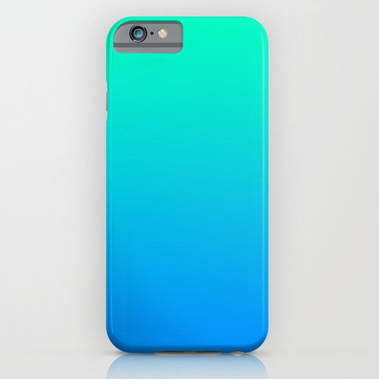 TEAL & BLUE FADE iPhone & iPod Case