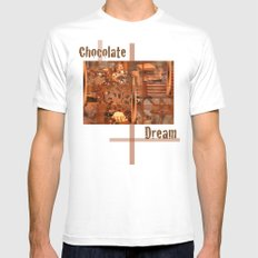 Chocolate Dream Mens Fitted Tee SMALL White