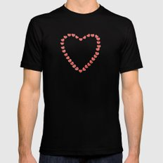 Heart of Hearts SMALL Black Mens Fitted Tee