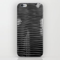 Wavy/Aqua Building Photo, Chicago, Architecture, Black and White iPhone & iPod Skin