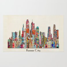 kansas city Missouri skyline Rug