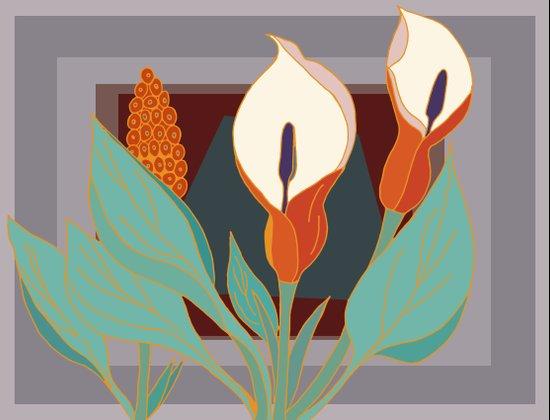 Arum Lilies III. Art Print