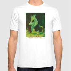Sea Dragon SMALL Mens Fitted Tee White