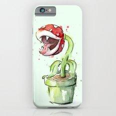 Piranha Plant Watercolor iPhone 6 Slim Case