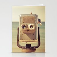 Robot Head Stationery Cards