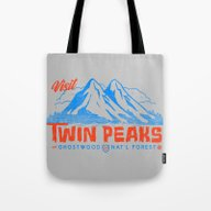 Visit Twin Peaks (orange… Tote Bag