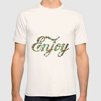 Enjoy Mens Fitted Tee Natural SMALL